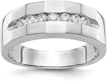 Ice Carats 14k White Gold Diamond Mens Wedding Ring Band Size