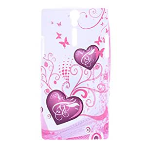 Heart Shape Pattern Soft Case for Sony Xperia S LT26i