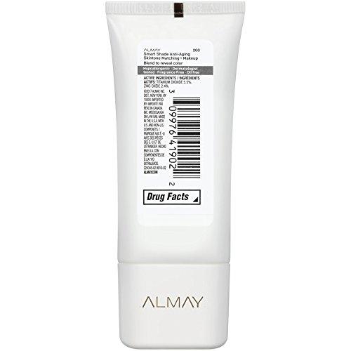Almay Smart Shade Anti-Aging Skintone Matching Makeup, Light Medium Mine, Foundation, Hypoallergenic, Dermatologist-tested, SPF 20, 1 Fl. Oz.