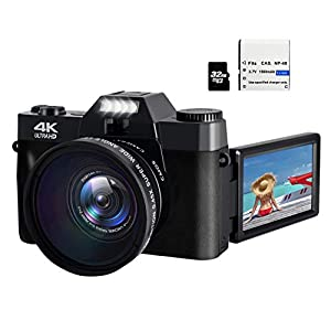 Flashandfocus.com 41jVv58hKiL._SS300_ 48MP 4K HD Digital Camera Vlogging Camera with 3.0 inch 180° Flip Screen WiFi Digital Camcorder for YouTube with Wide…
