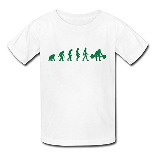 Youth Weight Lifting Evolution Kids T-Shirt - Evolution T-shirt Kids