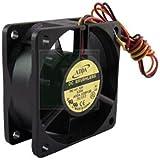 Adda AD0612HB-A72GL Fan, 12 VDC, 23.2 CFM, 3-12 Leads, 60 mm L x 60 mm W x 25 mm H