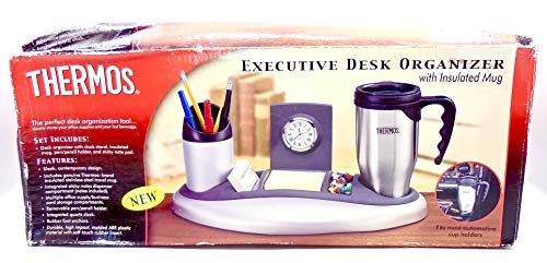 Thermos Executive Desk Organizer with Insulated Mug,Plastic