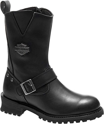 Harley-Davidson Men's Bladen 9-In Leather Motorcycle Boots D96155 (Black, 8.5)