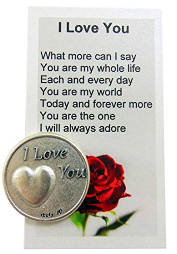 Westmon Works I Love You Sentiment Token and Poem Card Valenties Day Gift Set