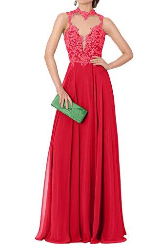 Abendkleider Elegant 2017 Huntergruen Chiffon Rot Ivydressing Promkleider Neu Spitze Lang Festkleid n4wYdnqAE