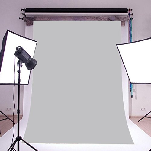Price comparison product image Sunward Background Paper For Photography, Seamless, Backdrop Paper White, Gray, Black;Green;Blue, 5 x 7FT (Gray)