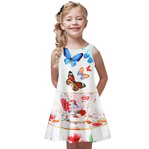 Baby Flower Dresses Flamenco for Girls Skirt Infant 3t Skirts Gold Holiday 50s 1800 Short Skirts Girls Skater Skirt 7-8 Dresses Gown for Mermaid(Blue,120 -