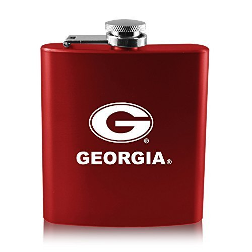 LXG, Inc. University of Georgia -6 oz. Color Stainless Steel Flask-Red