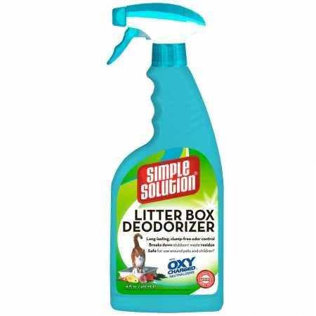Bramton Simple Solution Carpet (Simple Solution 16-Ounce Cat Litter Box Deodorizer Spray Bottle)