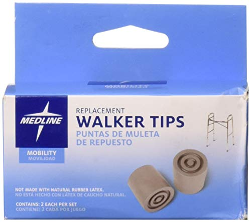 Complete Medical Walker Tip Replacements Gray 1