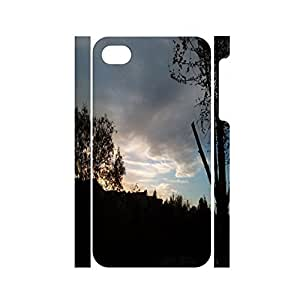 Stylish Scenery Series Sunset Pattern Solid Hard Platsic Case For Iphone 4 4s