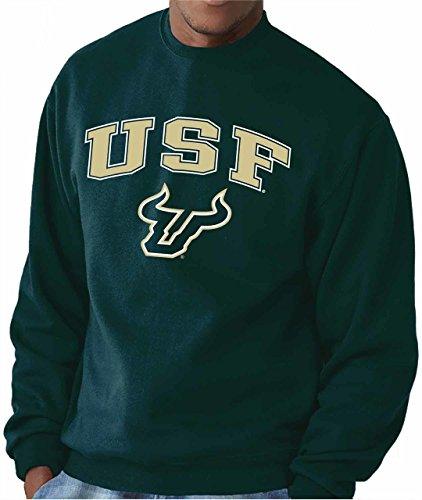 - Campus Colors USF Bulls Adult Arch & Logo Gameday Crewneck Sweatshirt - Green, Large