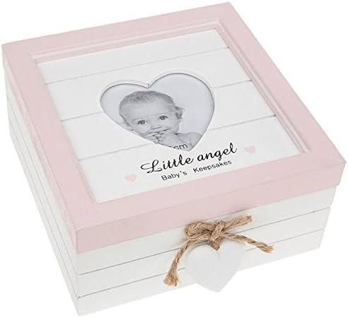 Caja de recuerdo de regalo de madera vintage de Baby Girl: Amazon.es: Hogar