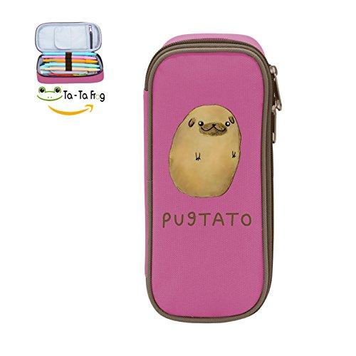 (Mybox Cute Pugtato Cube Pen Case Pencil Box Soft Canvas Student Stationery Office Storage)
