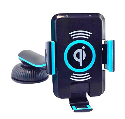 LKL7 Qi SUPERCHARGER BLUE ENERGIE Induktive Kfz Handy Halterung 360°drehbar zum kabellosen Laden Ladestation Induktionsladegerät Auto Ladegerät Wireless Charging Receiver mount holder universal Handyhalter für Qi-zertifizierte Smartphone Adapter Phablets zB für: Samsung Galaxy Note 7 S7, S7 Edge S6 S6 + Plus edge S5 S4 S3 Note 5 4 3 Huawei Mate S Nexus 6 5 4 HTC Droid DNA Nokia Lumia 920 928 930 1520 LG Optimus G Pro G3 Green Energy charger