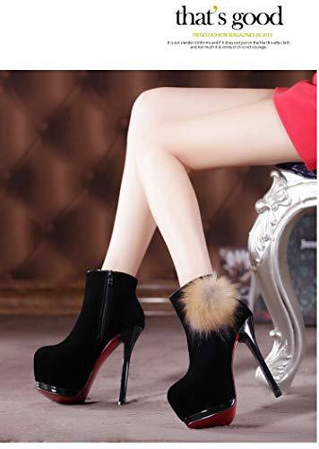 Autunno Spillo A Liangxie Nero Alto Con Donna 14cm Da E Inverno Scarpe Tacco Impermeabile wEEHZn0