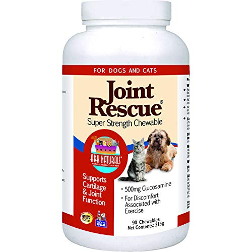 Rescue Super Strength Chewable Tablets - ARK NATURALS Joint Rescue Super Strength Chewable for Cats and Dogs, 90 Each