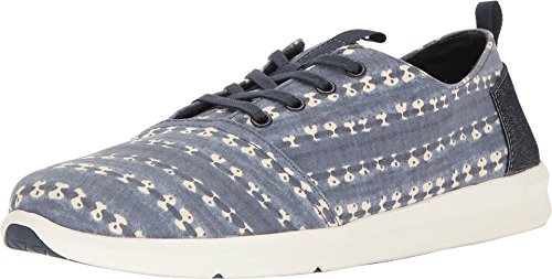 TOMS Men's Del Rey Sneaker Navy Batik Stripe Oxford