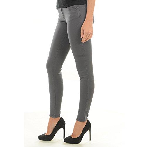 W64AJ2W7YE1 Mujer Gris G903 Oscuro Jeans GUESS xwOqn875