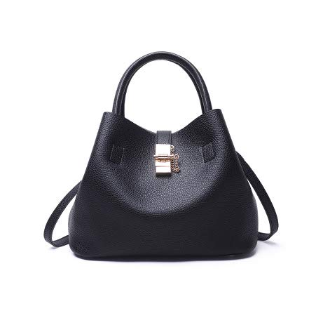 HITSAN INCORPORATION SWDF Litchi Pattern Soft PU Leather Women Handbag Two  Pieces Female Shoulder Bag Girls f0138ec0ce725