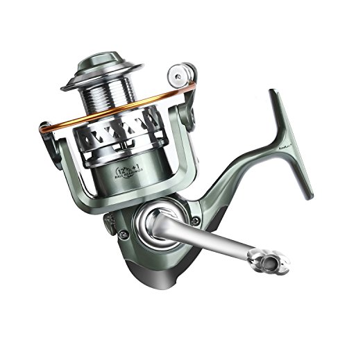 ROSE KULI Spinning Metal Spool Bait Casting Fishing Reel 12 Plus 1 Ball Bearings for Freshwater and Saltwater, 3000/4000 Series (Casting Plus Reel)