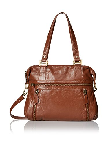 Latico Women's Hazel Gathered Shoulder Bag 7605,Cognac Leather,US by Latico