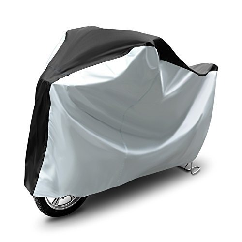 Amzdeal Bike Cover Heavy Duty 210D Oxford Bicycle Cover,Silver & Black Color - Size XL Image