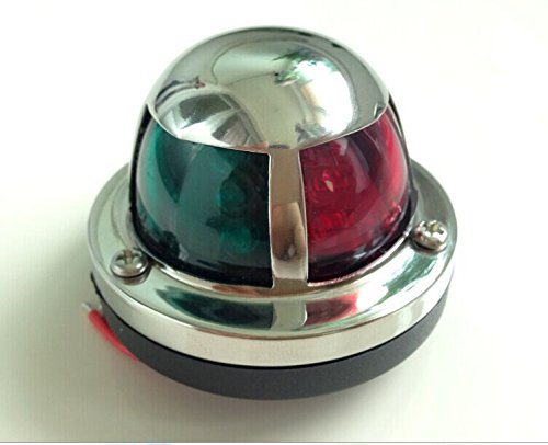 Marine Boat Yacht Light 12V Stainless Steel Bow LED Navigation Lights WIDE MARINE