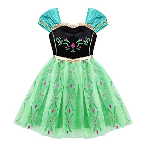 FEESHOW Toddler Baby Girls Pirate/Cinderella/Little Mermaid Princess Dress up Costumes Halloween Birthday Party Outfit Black&Green 18 Months for $<!--$8.65-->