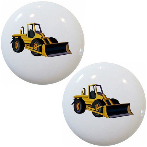 Bulldozer Knob (Bulldozer Ceramic Cabinet Drawer Pulls Knobs (Set of 2 Knobs))