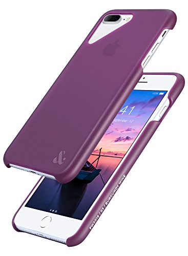 iPhone 8 Plus Case, iPhone 7 Plus Case, AMBER & ASH Ultra Slim Dual Layer TPU Protective Shock Absorbent Anti-Slip Half Translucent Case for Apple iPhone 8/7 Plus (2016-2017) [5.5 Inch Burgundy Wine] (Wine Ash)