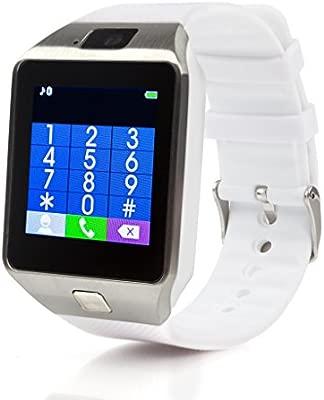 Reloj de pulsera inteligente DZ09 con teléfono, bluetooth, cámara, con ranura para tarjeta SIM,La admite la notificación de mensajes. Es compatible ...