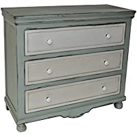 Cheungs FP-3896 Shabby Blue Cabinet with 3 Drawers