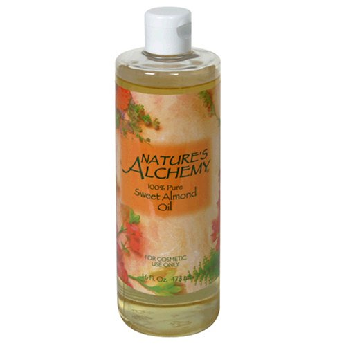 Nature Alchemy huile d'amande douce, pure à 100%, 16 oz (473 ml)