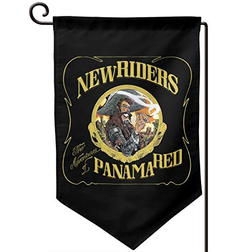(Audieru New Riders of The Purple Sage The Adventures of Panama Red Garden Flag 12.5 X 18 Vertical Double Sided Outdoor Decorative Home Garden Decor )