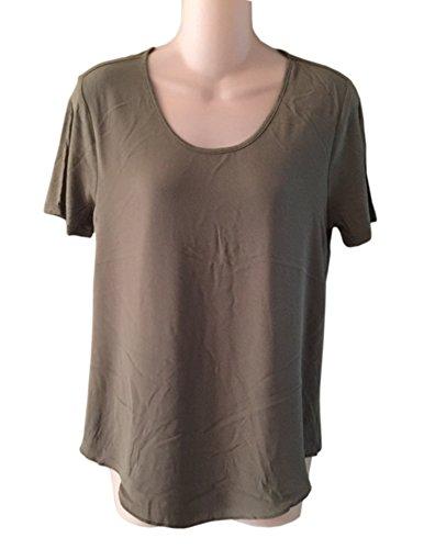 ann-taylor-womens-camouflage-green-blouse-top-xs-s-m-l-xl