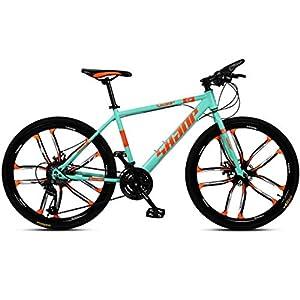 41jW fB9TDL. SS300 JXH 26 Bici Pollici di Montagna, Doppio Freno a Disco per Mountain Bike Hardtail Uomo, Bicicletta Sedile Regolabile, ad…