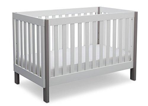 Delta Children Bellevue 3-in-1 Convertible Crib, Bianca with Grey Review