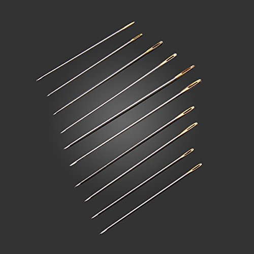 Arts, Crafts & Sewing - 100pcs Golden Tail Needles Size 24 F