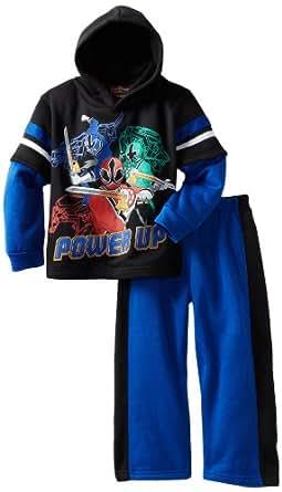 Power Rangers Little Boys' 2 Piece Hoodie Set, Black, 7