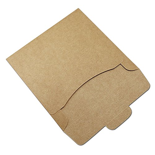 12.5x12.5 cm Classic Cardboard Recycled CD Packaging Boxes for Video Disc Device Kraft Paper Foldable File Envelope Storage Box Paperboard Multiply Usage Paper Case for DVD Items (20 pcs, brown)