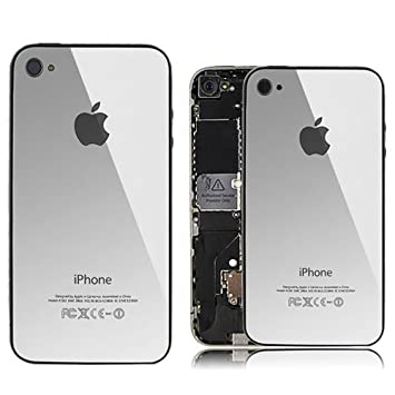 1ab3c1b4cd アップル ミラー銀 Mirror Silver iPhone4 iPhone 4 バックパネル バッテリーカバーケース交換ガラス (
