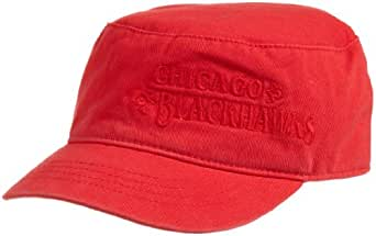 NHL Women's Lifestyle Military Hat, Chicago Blackhawks, One Size Fits All