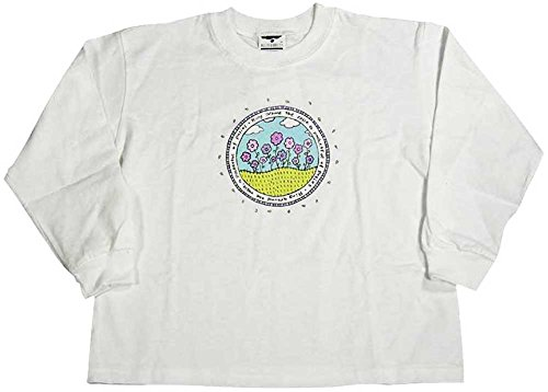 Girl Flower Discounted - Mulberribush - Little Girls' Long Sleeved Flowers Tee, White 8053-6