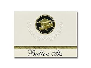 Signature Announcements Ballou Shs (Washington, DC) Graduation Announcements, Presidential style, Basic package of 25 Cap & Diploma Seal. Black & Gold.