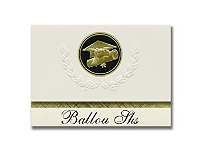 Signature Announcements Ballou Shs (Washington, DC) Graduation Announcements, Presidential style, Basic package of 25 Cap & Diploma Seal. Black & Gold.