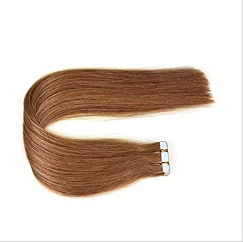 Amazon Tape In Hair Extensions Human Hair 12 Inches Color 8
