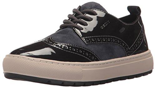 Geox Women's Breeda 7 Fashion Sneaker, Purple/Dark Navy, 39 EU/9 M US