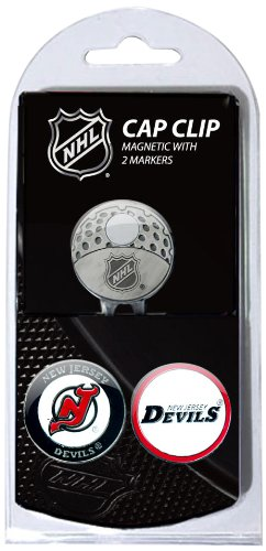 Team Golf NHL New Jersey Devils Golf Cap Clip with 2 Removable Double-Sided Enamel Magnetic Ball Markers, Attaches Easily to Hats